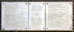 CWGC Memorial at St Michael's Church, East Wickham